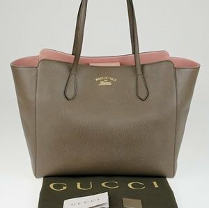 GUCCI💜AUTHENTIC LARGE GRAY SWING TOTE